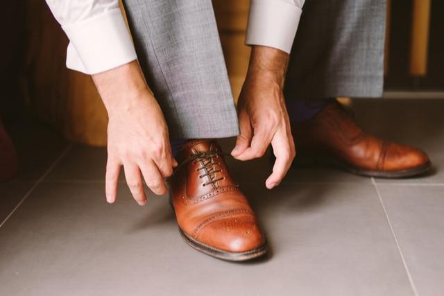 革靴の汚れ